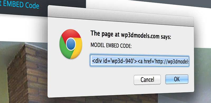 WP3D Models Embed Code Lets You Track Views on Other Websites