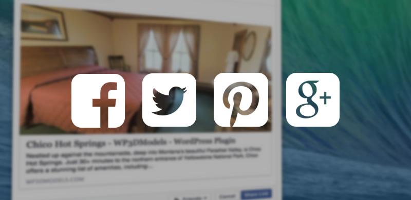 WP3D Models WordPress Plugin's Easy Social Media Integration