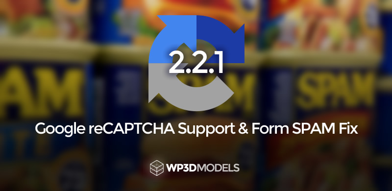 WP3D Models – Version 2.2.1 – Google reCAPTCHA